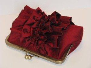 Red Ruffle Purse