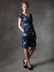 begonia print dress cap sleeves asymmetircal inverted pleats