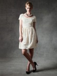 lace dress cap sleeve boat neckline